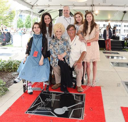 Brenda Lee, husband Ronnie Shacklett and family