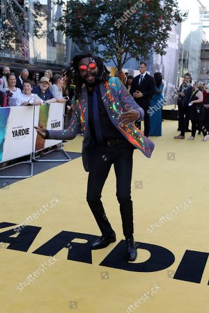 Stock Picture of Everaldo Creary poses for photographers on arrival at the premiere of the film 'Yardie', in London