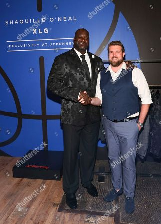 Stock Picture of Shaquille O'Neal and Zach Miko