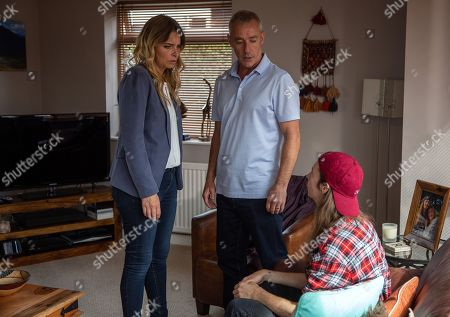 Ep 8244 Wednesday 29th August 2018 At Irene's house, Charity Dingle, as played by Emma Atkins, and Vanessa Woodfield burst in to find Ryan, as played by James Moore, talking to Bails, as played by Rocky Marshall. Charity struggles to contain her emotions as she confronts Bails, who insists he just wants to talk to Ryan. What is he there for and will he scupper the court case?