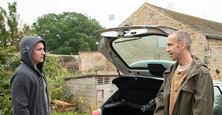 Ep 8248 Monday 3rd September 2018  Sam Dingle, as played by James Hooton, is soon left in danger when he discovers how dark Lachlan White, as played by Thomas Atkinson, can be.