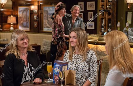 Ep 8240 Thursday 23rd August 2018 - 2nd Ep Misty, as played by Hedydd Dylan, reveals she has been offered a fire eating job in Thailand for a year but Nicola King, as played by Nicola Wheeler, is horrified when Misty declares Rodney Blackstock, as played by Patrick Mower, is accompanying her.