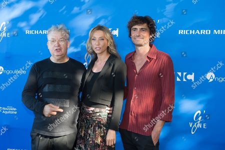 Dominique Besnehard, Laura Smet and Nicolas Herman