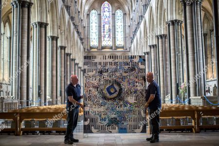 Editorial picture of Professor Stephen Farthing exhibition at Salisbury Cathedral, UK - 21 Aug 2018