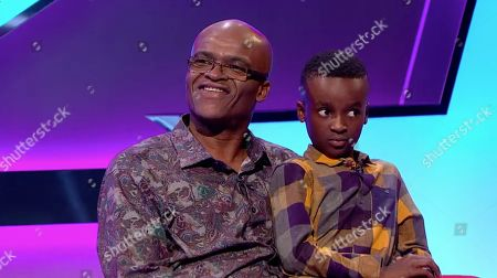Stock Picture of Kriss Akabusi and his son Alannam.
