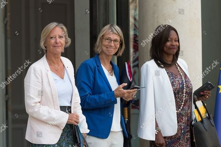 French Junior Minister in charge of Disabled People Sophie Cluzel, French Culture and Communication minister Francoise Nyssen and French Sports Minister Laura Flessel