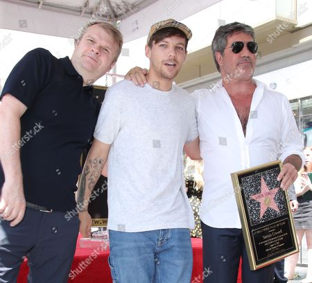 Louis Tomlinson, Simon Cowell and Rob Stringer