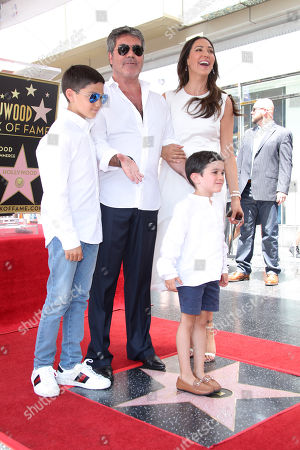Simon Cowell and Lauren Silverman with sons Eric Cowell and Adam Silverman