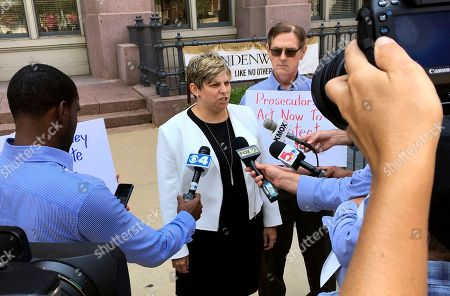 Nicole Gorovsky, David Clohessy. Attorney Nicole Gorovsky speaks to reporters in St. Louis, with clergy sex abuse advocate and victim David Clohessy by her side. Gorovsky, Clohessy and Mary Ellen Kruger spoke outside the St. Louis office of Attorney General Josh Hawley, calling for a wide-scale investigation of sex abuse by priests in Missouri. Kruger's son committed suicide in 1991, about five years after he was abused by a priest and another man at a Catholic high school