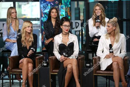 Hannah Ferguson, Nadine Leopold, Shanina Shaik, Ping Hue, Caroline Lowe and Devon Windsor