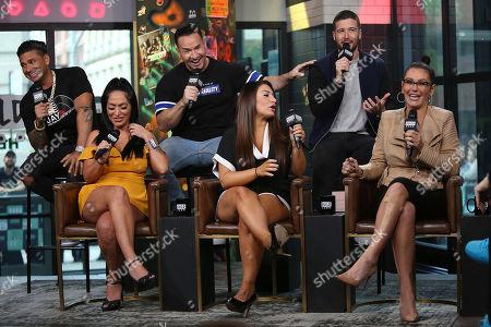 """Paul DelVecchio, Angelina Pivarnick, Mike Sorrentino, Deena Nicole Cortese, Vinny Guadagnino and Jenni """" Jenni J-Woww Farley """" Farley"""