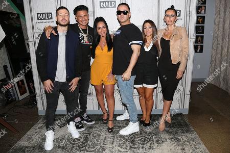 """Vinny Guadagnino, Paul DelVecchio, Angelina Pivarnick, Mike Sorrentino, Deena Nicole Cortese and Jenni """" Jenni J-Woww Farley """" Farley"""
