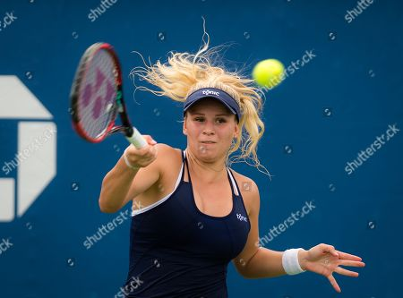 Jana Fett of Croatia in action during the first qualifications round