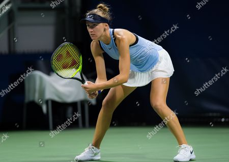 Tereza Smitkova of the Czech Republic in action during the first qualifications round