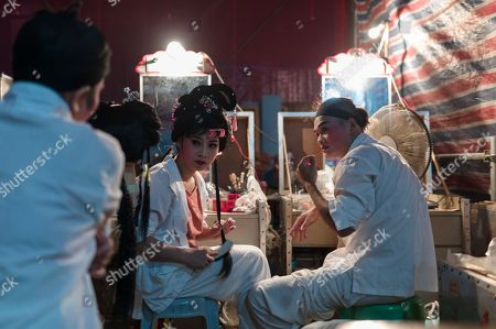Chiu Chow opera performers chat in the backstage during a performance in the New Territories in Hong Kong, China, 22 August 2018 (issued 23 August 2018). Around 1.2 million people originating from Chiu Chow (Chaozhou) in China's Guangdong province live in Hong Kong. During the Hungry Ghost Festival, they organise their own Yu Lan Ghost Festival, which includes opera performances for ghosts in need of a bit of entertaining. While the festival's origins are not unlike those of Halloween in Europe, it is also intrinsically linked to the Chinese practice of ancestor worship.