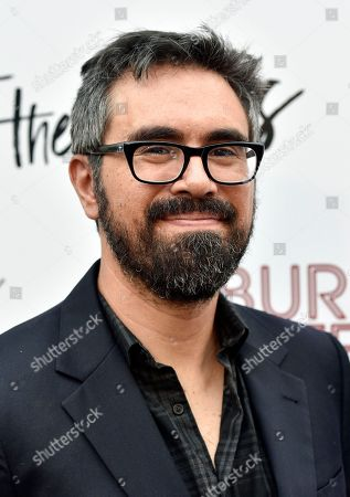 """Andrew Bujalski, writer/director of """"Support the Girls,"""" poses at the premiere of the film at the ArcLight Hollywood, in Los Angeles"""