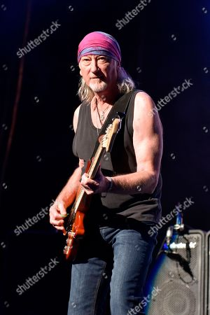 Roger Glover of Deep Purple performs at the Hollywood Casino Amphitheatre, in Tinley Park, IL