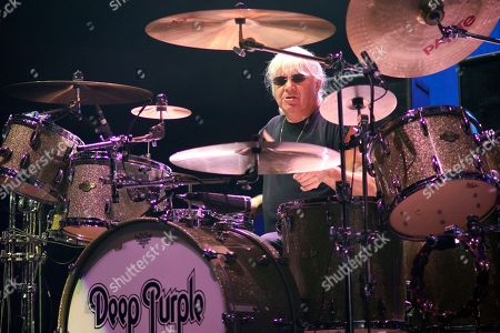 Ian Paice of Deep Purple performs at the Hollywood Casino Amphitheatre, in Tinley Park, IL