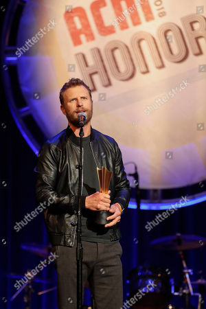 Dierks Bentley accepts the ACM Merle Haggard Spirit Award at the 12th Annual ACM Honors at the Ryman Auditorium on in Nashville, Tenn