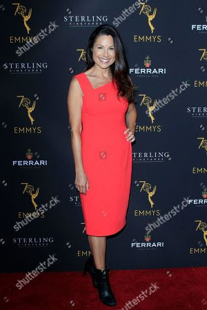 Stock Picture of US actress Marie Wilson arrives at the Television Academy Reception for the Daytime TV stars celebration of the 70th Emmy Awards at Saban Media Center in North Hollywood, Los Angeles, California, USA 22 August 2018.
