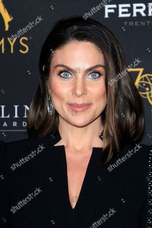 US actress Nadia Bjorlin arrives at the Television Academy Reception for the Daytime TV stars celebration of the 70th Emmy Awards at Saban Media Center in North Hollywood, Los Angeles, California, USA 22 August 2018.