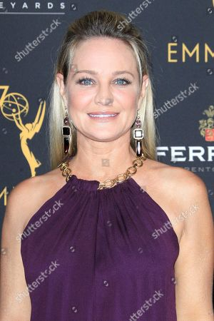 US actress Sharon Case arrives at the Television Academy Reception for the Daytime TV stars celebration of the 70th Emmy Awards at Saban Media Center in North Hollywood, Los Angeles, California, USA 22 August 2018.