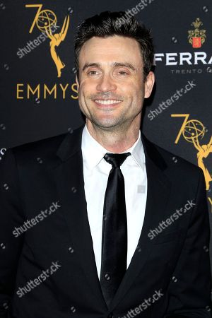 Australian model and actor Daniel Goddard arrives at the Television Academy Reception for the Daytime TV stars celebration of the 70th Emmy Awards at Saban Media Center in North Hollywood, Los Angeles, California, USA 22 August 2018.