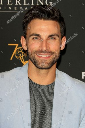 Stock Photo of US actor Erik Fellows arrives at the Television Academy Reception for the Daytime TV stars celebration of the 70th Emmy Awards at Saban Media Center in North Hollywood, Los Angeles, California, USA 22 August 2018.