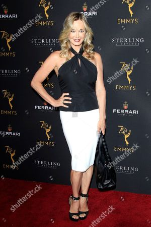 US actress Jennifer Gareis arrives at the Television Academy Reception for the Daytime TV stars celebration of the 70th Emmy Awards at Saban Media Center in North Hollywood, Los Angeles, California, USA 22 August 2018.