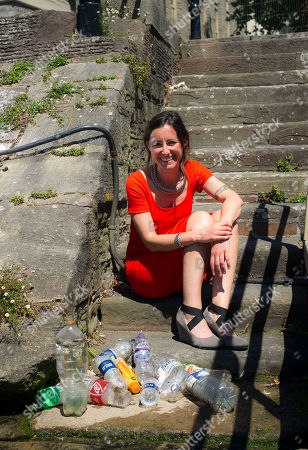 Natalie Fee Runs Anti Plastic Bottle Campaign City To Sea. Interview By Harry Wallop. Natalie Surveys The Waterways In Bristol.