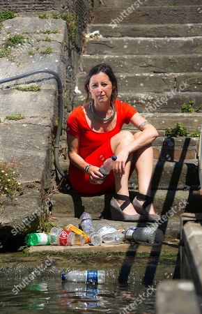 Natalie Fee For Features. She Runs The Anti Plastic Bottle Campaign City To Sea. Interview By Harry Wallop. Natalie Surveys The Waterways In Bristol.