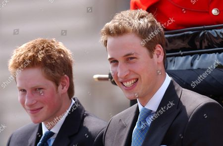 Trooping The Colour 2003. The Young Royals Prince Harry And Prince William Attend The Trooping Of The Colour In Honour Of Their Grandmother The Queen.  14/6/03