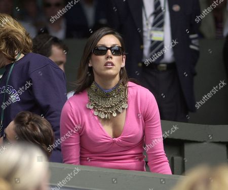 Wimbledon Tennis Championships 2003. Picture Shows: Greg Rusedski's Wife Lucy. Lucy Watched Her Husband Crash Out In His Second Round Match Against Andy Roddick 7-6 6-7 7-5. Wimbledon Tennis Championships 2003.day 3 25.06.03 Greg Rusedski Wife Lucy Takes Her Seat On Centre Court Today...spt