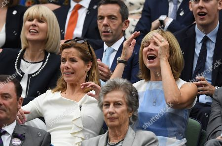 Darcy Bussell . The Wimbledon Tennis Championships 201711/07/2017 Day 8 Adrian Mannarino V Novak Djokovic Darcy Bussell And Fiona Bruce.