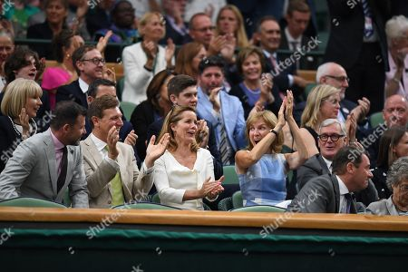 Stock Photo of Darcy Bussell . The Wimbledon Tennis Championships 201711/07/2017 Day 8 Johanna Konta V Simona Halep Darcy Bussell Watches On.