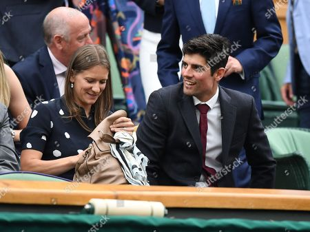 Alistair Cook . The Wimbledon Tennis Championships 201711/07/2017 Day 8 Adrian Mannarino V Novak Djokovic Alistair Cook In The Royal Box.