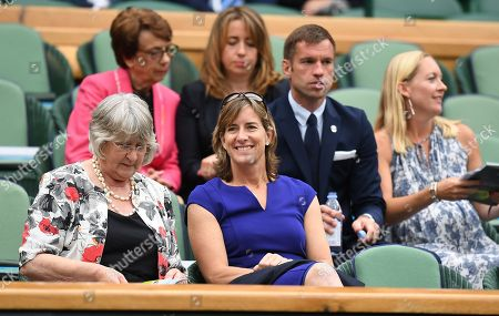 Katherine Grainger . The Wimbledon Tennis Championships 201711/07/2017 Day 8 Adrian Mannarino V Novak Djokovic Katherine Grainger In The Royal Box.
