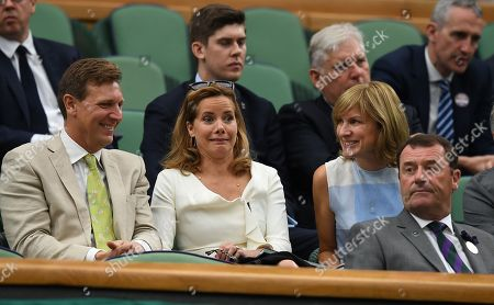 Editorial photo of Darcy Bussell . The Wimbledon Tennis Championships 2017 Picture Andy Hooper.......daily Mail 11/07/2017 Day 8 Adrian Mannarino V Novak Djokovic Darcy Bussell In The Royal Box Laughs With Fiona Bruce.