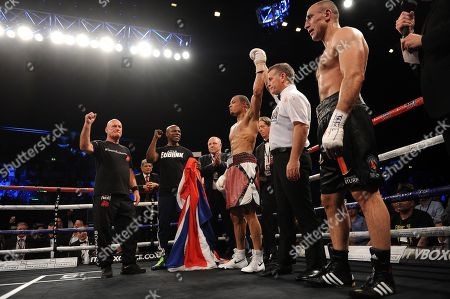 Chris Eubank Jnr V Arthur Abraham At The Wembley Arena Fighting For The Ibo Super-middleweight Title. Chris Eubank Jnr Won The Fight Via A Unanimous Decision Seen Here Getting The Verdict.