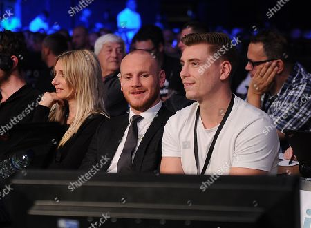 Super-middleweight Fight Chris Eubank Jnr V Arthur Abraham At The Wembley Arena Fellow Boxer George Groves Watches The Fight.