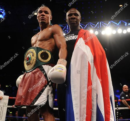 Chris Eubank Jnr V Arthur Abraham At The Wembley Arena Fighting For The Ibo Super-middleweight Title. Chris Eubank Jnr Won The Fight Via A Unanimous Decision Seen Here After With His Father Chris Eubank Snr.