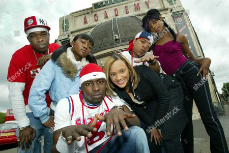 Stock Image of Big Brovaz Pop Band Pictured L To R: Randy Nadia Flawless Cherise Roberts J Rock And Dion