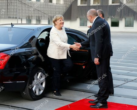 German Chancellor Angela Merkel (L) meets Georgian President Giorgi Margvelashvili (R) in Tbilisi, Georgia, 23 August 2018. Angela Merkel is on an official visit to Georgia.
