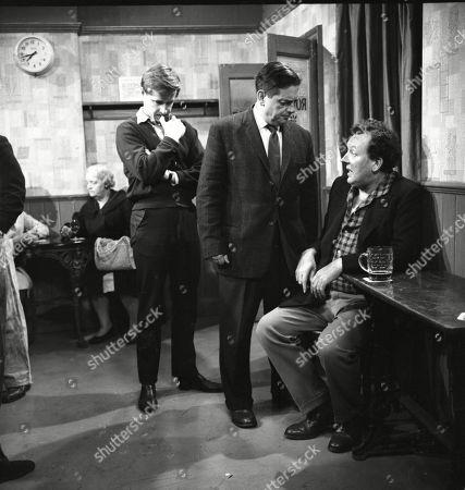William Roache (as Ken Barlow), Frank Pemberton (as Frank Barlow) and Paul Dawkins (as George Pickup)