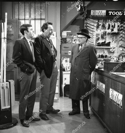 Bunny May (as Jim Pickup), Paul Dawkins (as George Pickup) and Arthur Lowe (as Leonard Swindley)
