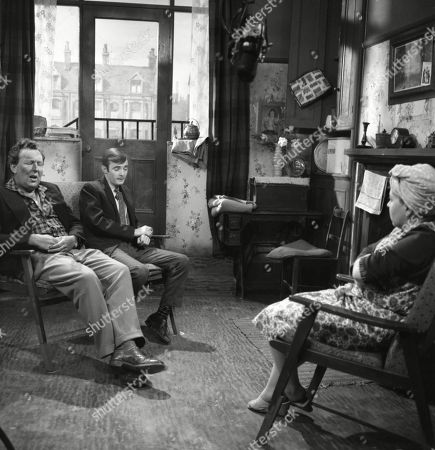 Paul Dawkins (as George Pickup), Bunny May (as Jim Pickup) and Susan Field (as Ethel Tyson)