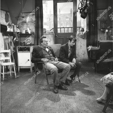 Paul Dawkins (as George Pickup) and Bunny May (as Jim Pickup)