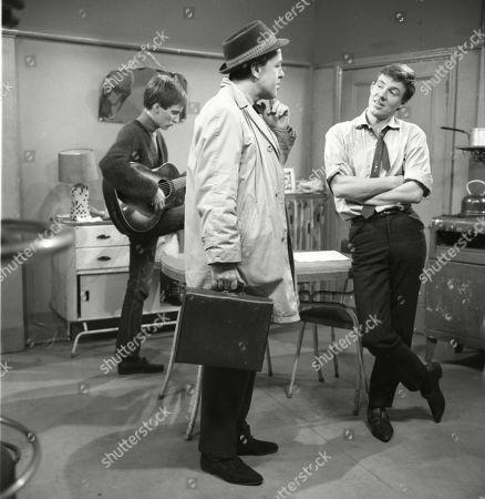 Christopher Sandford (as Walter Potts), Derek Benfield (as Credit Salesman) and Philip Lowrie (as Dennis Tanner)