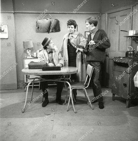 Derek Benfield (as Credit Salesman), Pat Phoenix (as Elsie Tanner) and Christopher Sandford (as Walter Potts)