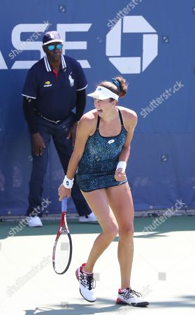 Stock Image of Georgina García Pérez from Spain beats Great Britain's Naomi Broady in and Qualifying round